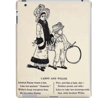 Miniature Under the Window Pictures & Rhymes for Children Kate Greenaway 1880 0050 Fanny and Willie iPad Case/Skin