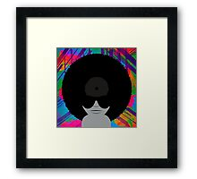 Funky Music Vinyl Records Framed Print