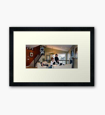 family environment Framed Print