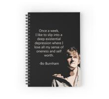 Bo Burnham Existential Quote Spiral Notebook