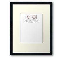 R.O.B. The Robot - Retro Minimalist - White Clean Framed Print