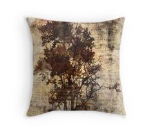 Trees sing of Time - Vintage Throw Pillow