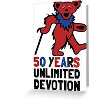 Grateful Dead 50th Anniversary - Dancing Bear - Unlimited Devotion Greeting Card
