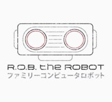 R.O.B. The Robot - Retro Minimalist - White Dirty by garudoh