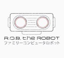 R.O.B. The Robot - Retro Minimalist - White Dirty by garudoh