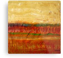 Fall colors at the end of the day, mixed media on board Metal Print