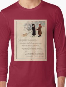 The Glad Year Round for Boys and Girls by Almira George Plympton and Kate Greenaway 1882 0052 Freezing Wind Blows Long Sleeve T-Shirt