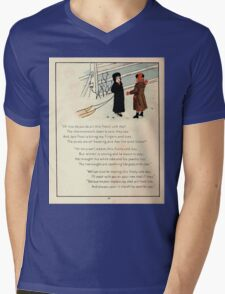 The Glad Year Round for Boys and Girls by Almira George Plympton and Kate Greenaway 1882 0052 Freezing Wind Blows Mens V-Neck T-Shirt