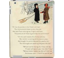 The Glad Year Round for Boys and Girls by Almira George Plympton and Kate Greenaway 1882 0052 Freezing Wind Blows iPad Case/Skin