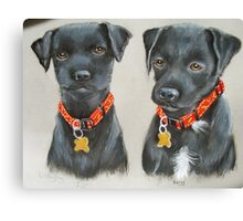 JODY & BECKY, terrier pups  Canvas Print