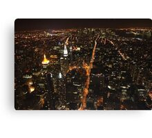 An Owl's perspective... looking down on Manhattan at night Canvas Print