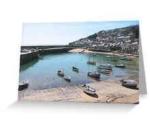 Mousehole harbour - Cornwall - South West England Greeting Card