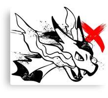 Charizard X Canvas Print
