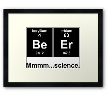 Periodic Table of Beer - Black Framed Print