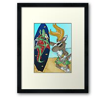 Ready to Hit the Waves Framed Print