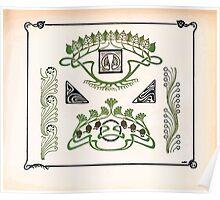 Maurice Verneuil Georges Auriol Alphonse Mucha Art Deco Nouveau Patterns Combinaisons Ornementalis 0025 Poster