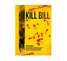 Kill Bill - Vol. I minimal movie poster Art Print