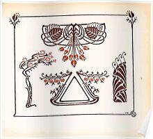 Maurice Verneuil Georges Auriol Alphonse Mucha Art Deco Nouveau Patterns Combinaisons Ornementalis 0037 Poster
