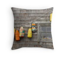 Hung Out to Dry in Nova Scotia Throw Pillow