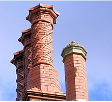 Hodsock Priory Chimneys Photographic Print