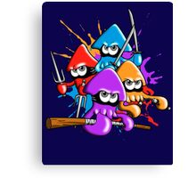 Teenage splatter ninja squids. Canvas Print