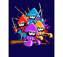 Teenage splatter ninja squids. Photographic Print