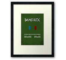 Matrix - minimal movie poster Framed Print