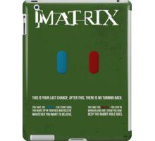 Matrix - minimal movie poster iPad Case/Skin