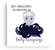 The Importance of Body Language Canvas Print