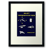 Sci-fi Transportation Modes 1 Framed Print