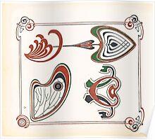 Maurice Verneuil Georges Auriol Alphonse Mucha Art Deco Nouveau Patterns Combinaisons Ornementalis 0023 Poster