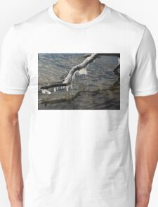 Merry Icicle Reflections in Lake Ontario, Toronto, Canada T-Shirt