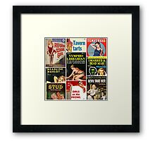 Pulp Fiction Cover Collage Framed Print