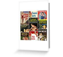 Pulp Fiction Cover Collage Greeting Card