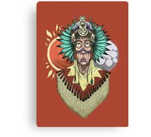 The native chief Canvas Print