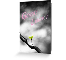 Good Luck Leaves Greeting Card