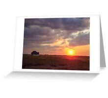 Summer Sunset and A Year Greeting Card