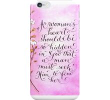 Inspiring quote for women calligraphy art print iPhone Case/Skin