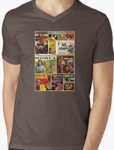 Pulp Novel Bad Girls Collage Mens V-Neck T-Shirt