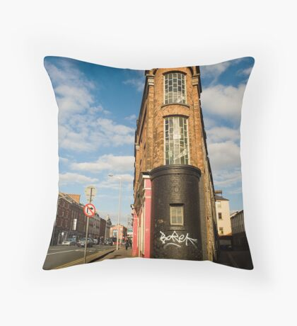 Washington Street & Little Hanover Street Throw Pillow