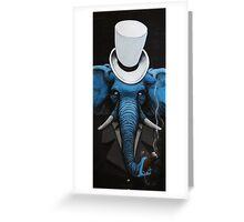 Classy elephant Greeting Card