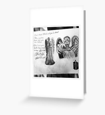 Weeping Angles : Don't Blink Greeting Card