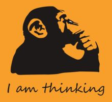 Monkey is thinking by saturdaytees