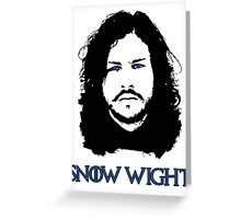 Snow Wight Greeting Card