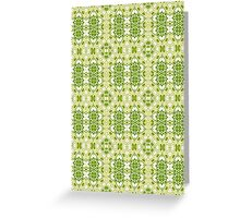 Shades of Green Abstract Design Pattern Greeting Card