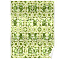 Shades of Green Abstract Design Pattern Poster