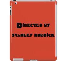 Directed By Stanley Kubrick (orange) iPad Case/Skin