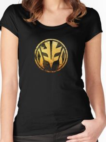 Tigerzord Coin Women's Fitted Scoop T-Shirt