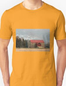 Snyder's Stone Barn ...After A March Sunset Unisex T-Shirt