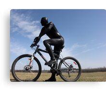 Zentai Bike Rider Canvas Print